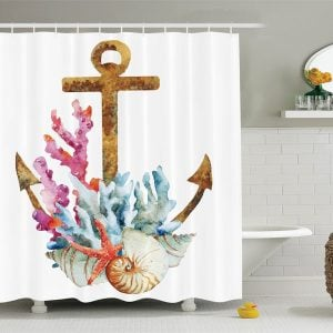 30-Anchor-Coral-Shell-Shower-Curtain-300x300 Best Anchor Shower Curtains