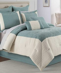 Hathaway Geometric Comforter and Bedding Set