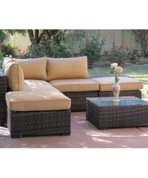 Lara 6-PC Deep Seated Wicker Sectional
