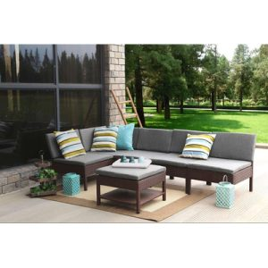 Baner Garden 6-PC Wicker Sectional Set