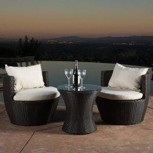 kyoto outdoor wicker conversation set