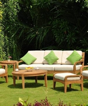 noida teak patio sofa set