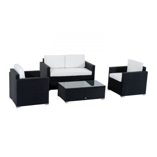 outsunny wicker sofa set