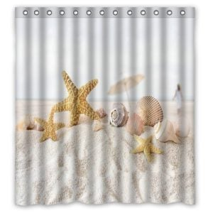 Seashells on the Sand Shower Curtain
