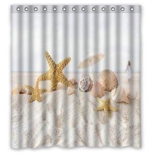 Seashells on the Sand Shower Curtain