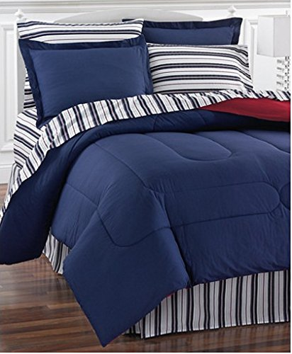redblue reversible nautical bedding set bed in a bag - Nautical Bedding