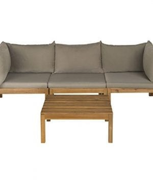 9-safavieh-outdoor-lynwood-teak-sectional-300x360 Best Teak Patio Furniture Sets