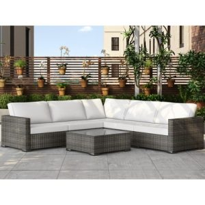 Murillo Silver Grey 6-PC Wicker Sectional