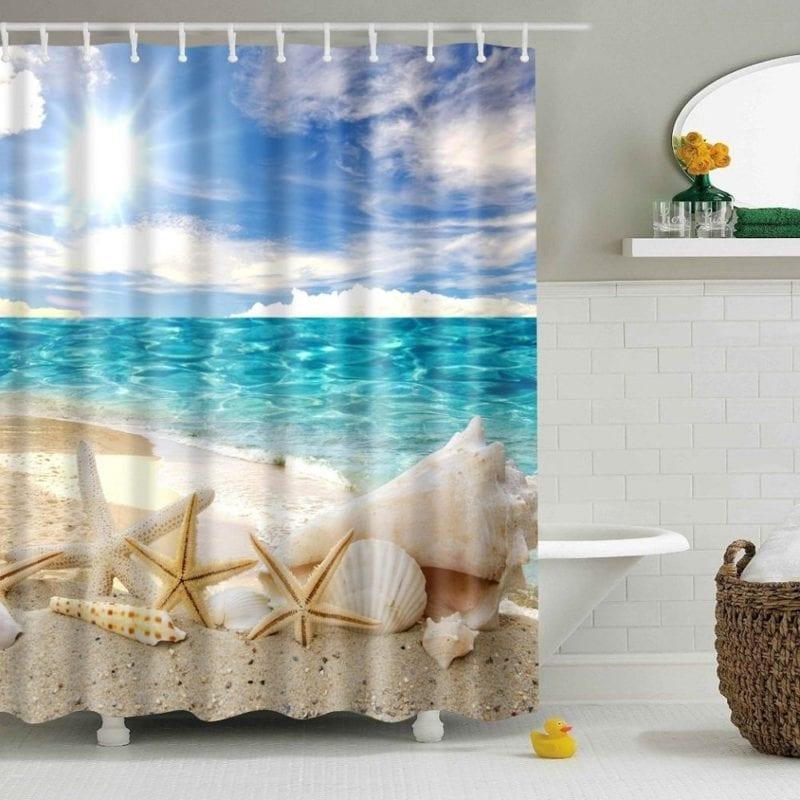 HomeFly-Beach-Ocean-Shower-Curtain-800x800 Beach Shower Curtains & Nautical Shower Curtains