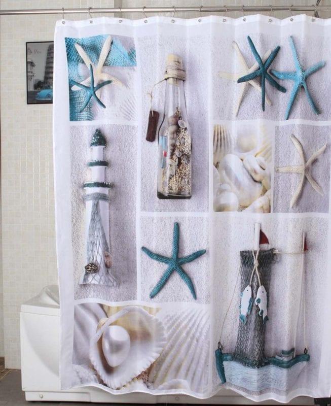 Morning-sunshine-72-X-72-Inch-Nautical-Shower-Curtains-653x800 Beach Shower Curtains & Nautical Shower Curtains