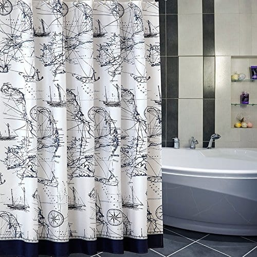 Uforme Sea Theme Nautical Shower Curtain And Beach Themed