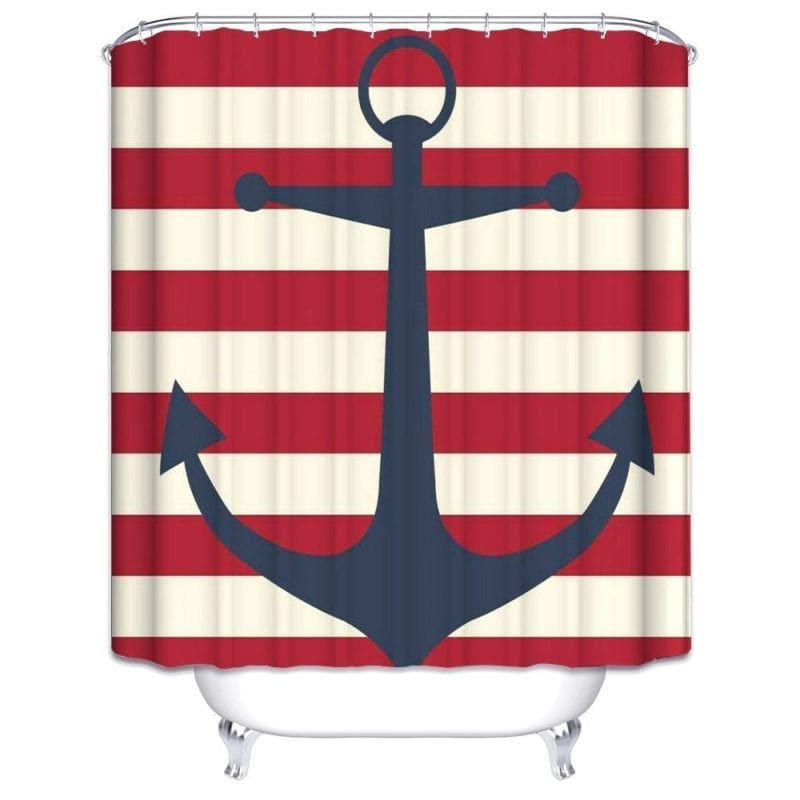 Wimaha-Anchor-Shower-Curtain-Fabric-Stripe-Shower-Curtain-800x800 Beach Shower Curtains & Nautical Shower Curtains