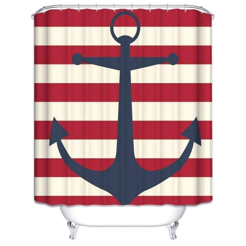 Wimaha-Anchor-Shower-Curtain-Fabric-Stripe-Shower-Curtain-800x800 Beach Shower Curtains & Nautical Shower Curtains