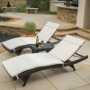 rio vista wicker chaise lounge set