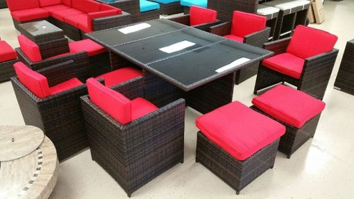 13 Piece Outdoor Wicker Furniture Set