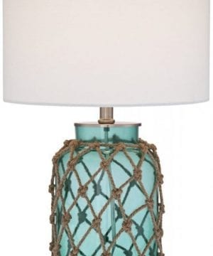 1-crosby-blue-glass-bottle-coastal-rope-table-lamp-300x360 200+ Coastal Themed Lamps