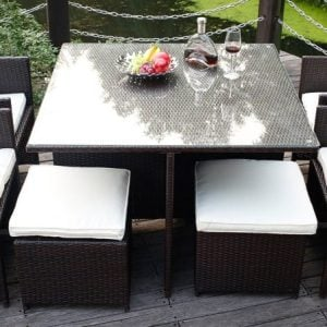 1-merax-9pc-black-wicker-dining-set-300x300 Black Wicker Patio Furniture & Black Rattan Furniture