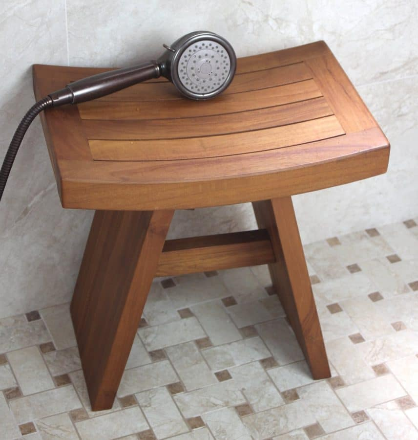 Original Asian Style 18 Quot Teak Shower Bench