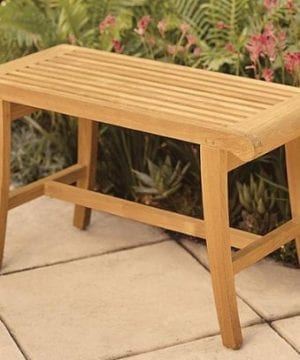 1-small-outdoor-grade-a-teak-wood-bench-300x360 Best Teak Patio Furniture Sets