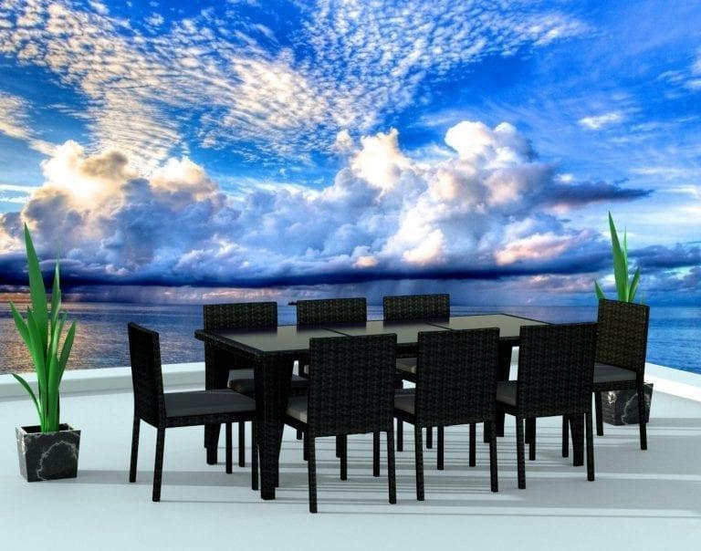 Urban Finishing Modern Wicker Dining Set