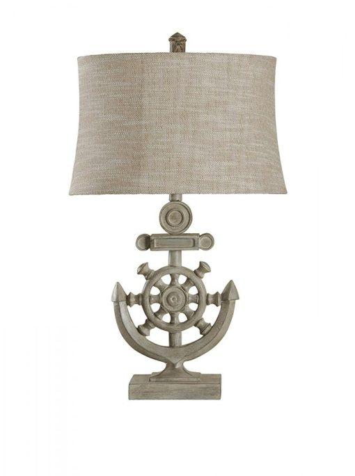 StyleCraft Shipwheel Nautical Table Lamp