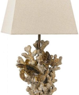 Cal Lighting Sand Stone Turtle Coral Lamp