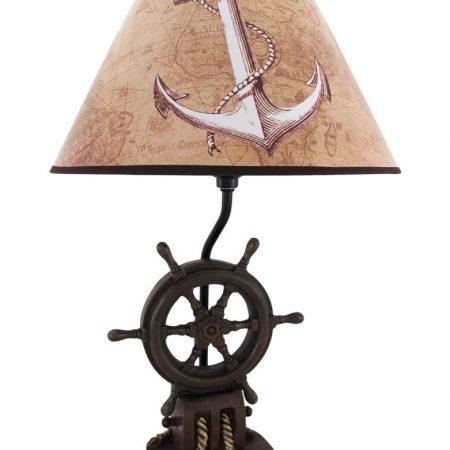 Captains Shipwheel Anchor Nautical Lamp