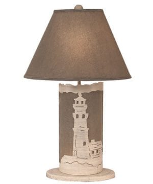 Coastal Living Lighthouse Scene Panel Lamp