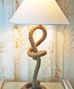 Modern Nautical Pier Rope Table Lamp