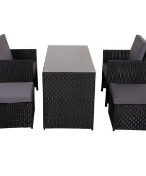 10-sundale-outdoor-black-wicker-dining-set-300x360 100+ Black Wicker Patio Furniture Sets For 2020