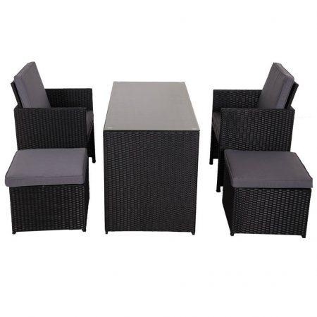 10-sundale-outdoor-black-wicker-dining-set-450x450 Wicker Patio Dining Sets