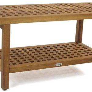 10-the-original-grate-36-teak-shower-bench-300x300 51 Teak Outdoor Furniture Ideas For 2020