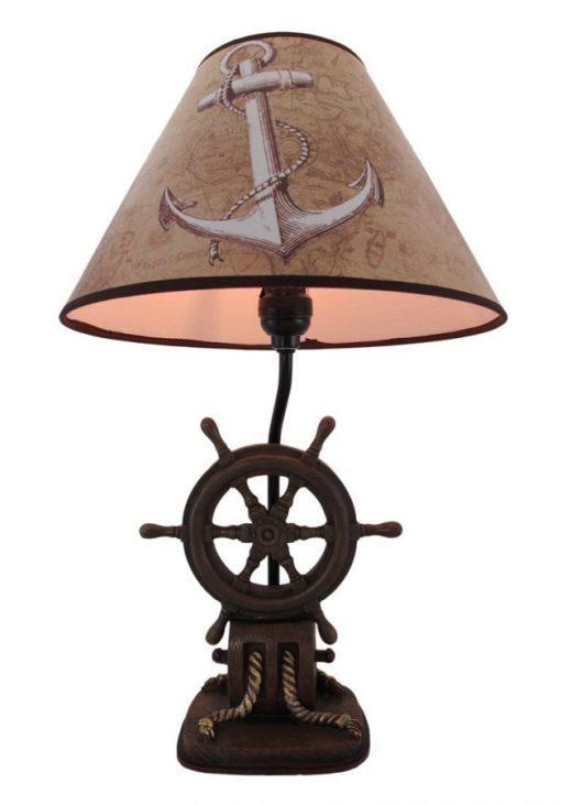 10b Captains Shipwheel Anchor Nautical Lamp 510x731