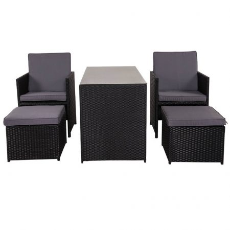 10b-sundale-outdoor-black-wicker-dining-set-450x450 Wicker Patio Dining Sets