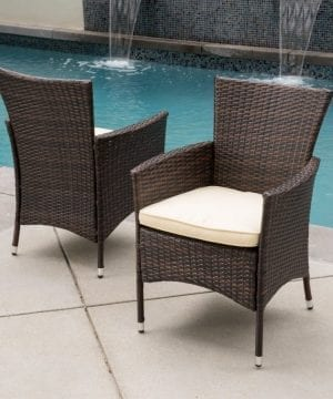 Brown& Khaki Patio Furniture & Accessories Recliners Babylon