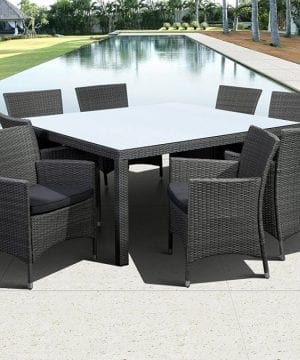 Atlantic 9PC Deluxe Wicker Dining Set