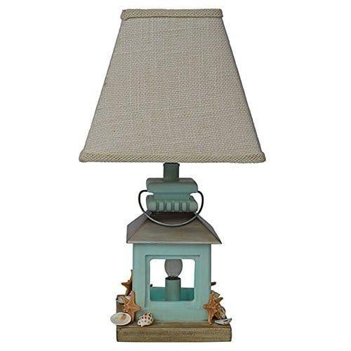 Coastal Lantern Seas Beach Table Lamp, Ocean Themed Lamps
