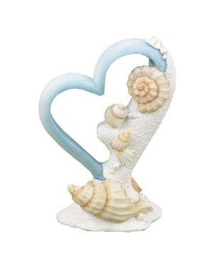 11-heart-seashells-beach-wedding-cake-topper-300x360 50+ Beach Wedding Cake Toppers and Nautical Cake Toppers For 2020
