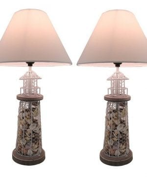 Seashell Metal Mesh Table Lamps