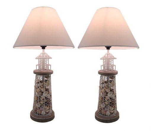 Seashell Metal Mesh Table Lamps