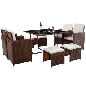 11-tangkula-9pc-garden-wicker-dining-set-300x300 Wicker Dining Tables & Wicker Patio Dining Sets