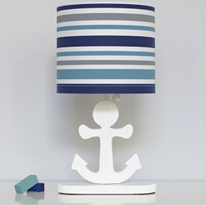 11b-high-seas-nautical-collection-striped-lamp-300x300 Anchor Decor & Nautical Anchor Decorations