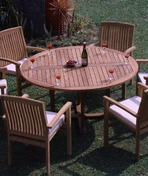 12-7pc-grade-a-round-60-teak-dining-set-300x356 Best Teak Patio Furniture Sets