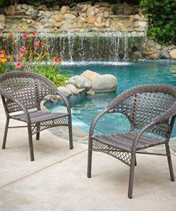 Malibu Grey Wicker Dining Chair