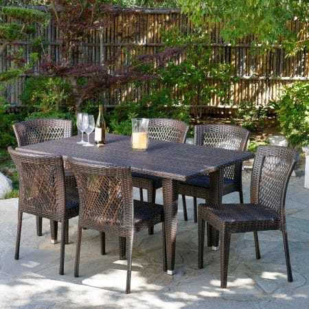 12-dana-point-7pc-outdoor-brown-wicker-dining-set-450x450 Wicker Patio Dining Sets