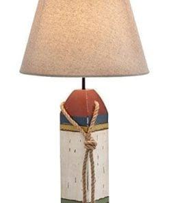 Wood Buoy Nautical Table Lamp