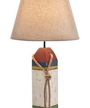 Wood Buoy Nautical Table Lamp