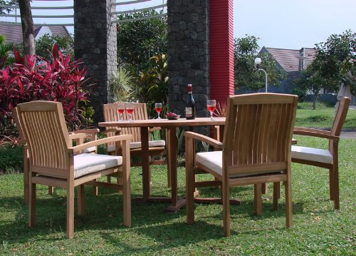 "7-PC Grade-A Round 60"" Teak Dining Set"