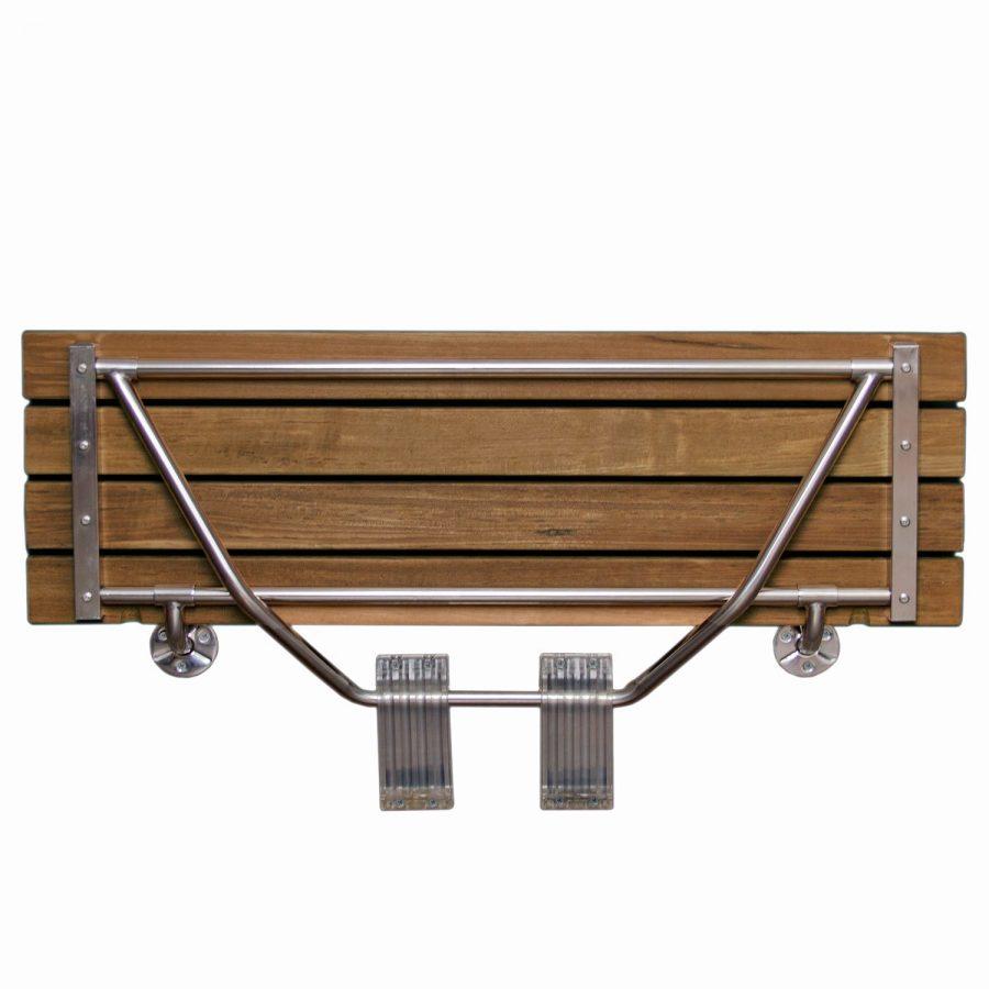 Modern Folding Built In Teak Shower Bench