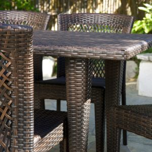 Dana Point 7PC Brown Wicker Dining Set